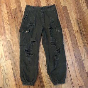 LF Pants - GREEN LF CARMAR CARGO PANTS